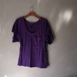 Rvca women's v-neck t-shirt